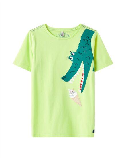 Joules Archie App T-Shirt Lime Croc