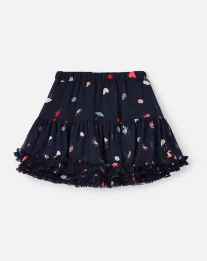 Joules Lillian Tutu Skirt Navy Unicorn