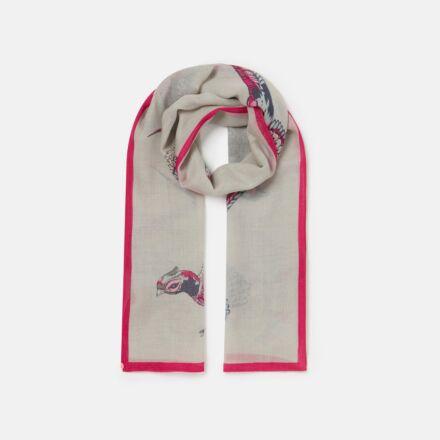 Joules Julianne Wool Scarf Silver Pheasants
