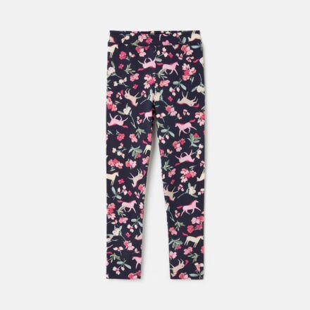 *nov.info* Joules DeeDee Leggings Navy Unicorn Floral