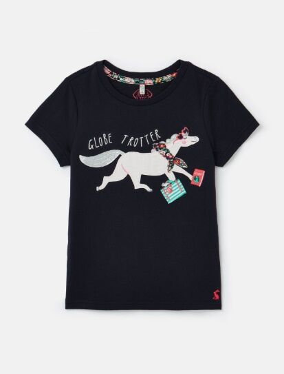 Joules Astra Artwork Top Navy Horse