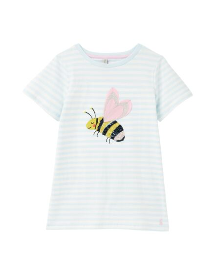 Joules Astra Artwork Top Bee Stripe