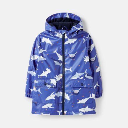 Joules Skipper Showerproof Rubber Raincoat Sharks