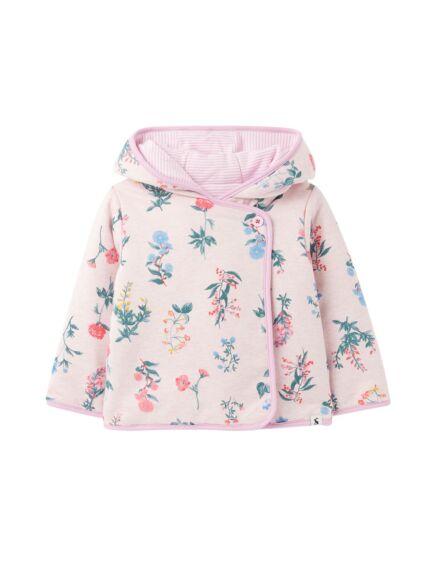 Joules JNR Reverse It Reversible Jacket Pink Floral