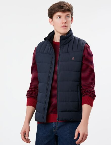 Joules Go to Padded Gilet Marine Navy