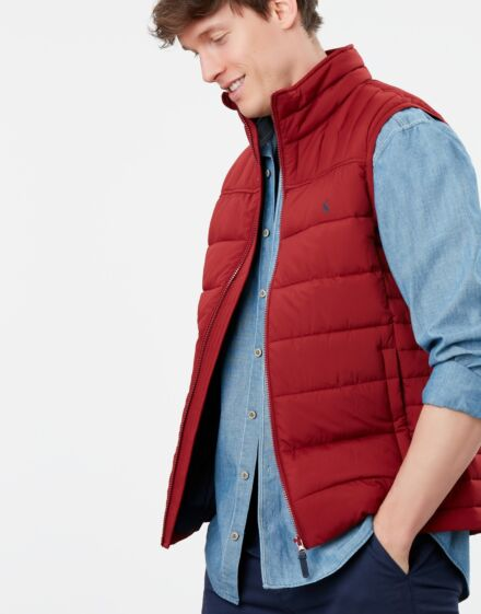 Joules Go To Gilet Dark Red