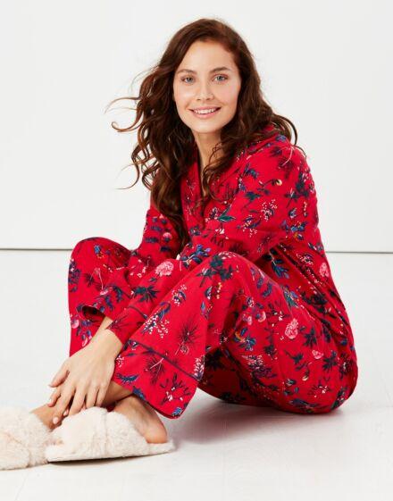 Joules Sleeptight Pyjama Set Red Festive