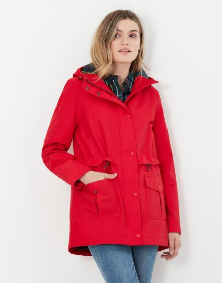 Joules Rushmere Mountain Technical Raincoat Red