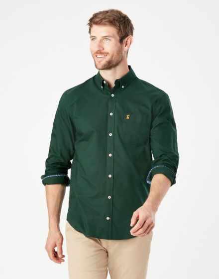 Joules Laundered Oxford Shirt Racing Green
