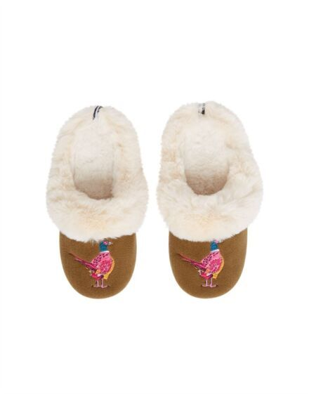 Joules Slippet Luxe Slippers Pheasant