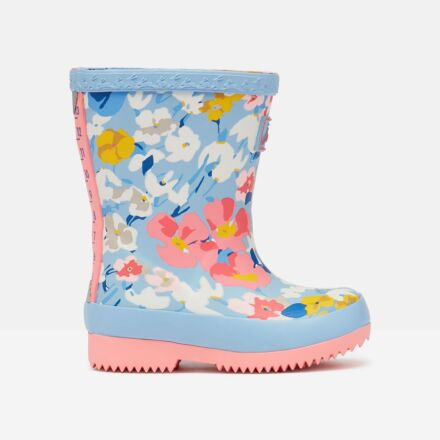 Joules Baby Printed Wellies Light Blue Floral