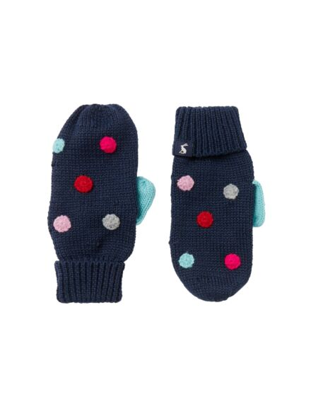 Joules Bella Mittens French Navy