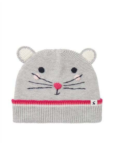 Joules Chummy Character Hat Grey Mouse