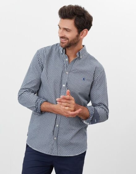 Joules Hammond Classic Fit Check Shirt Navy Check