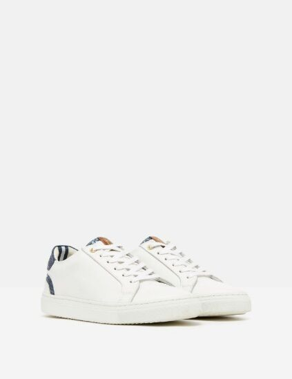 Joules Cupsole Classic Trainers White/Navy