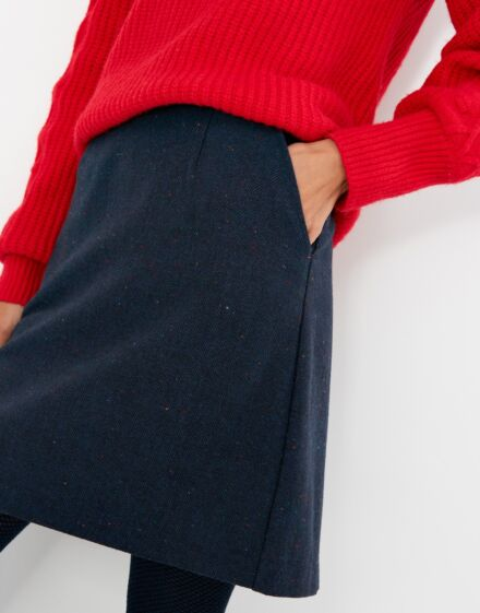 Joules Hannah Skirt French Navy Texture