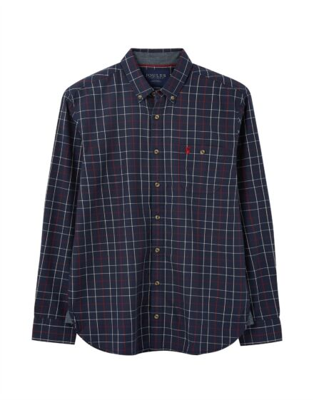 Joules Hewitt Classic Fit Shirt Navy Red Stripe