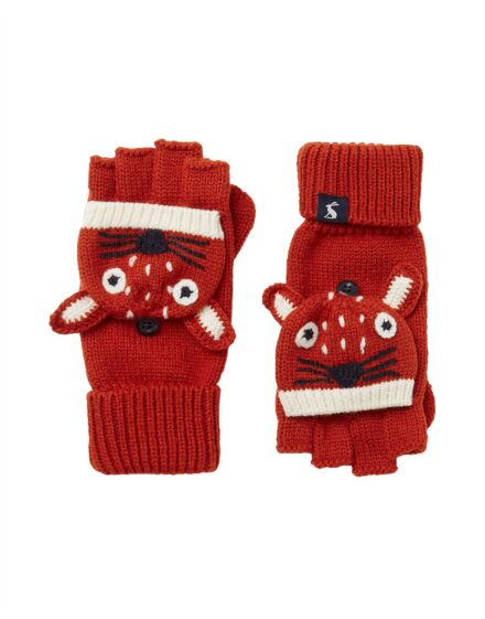 Joules Chummy Gloves Fox Face