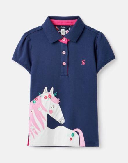 Joules Moxie Polo Shirt Flower Horse