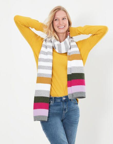 Joules Zelda Scarf Grey Stripe
