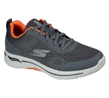 Skechers GoWalk Arch Fit - Idyllic Charcoal/Orange