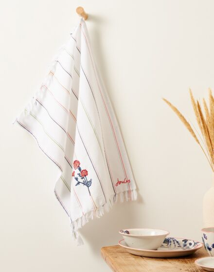 Joules Country Cottage Single Tea Towel Woven Stripe