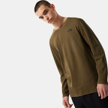 The North Face Men's Long Sleeved Easy Tee Military Olive