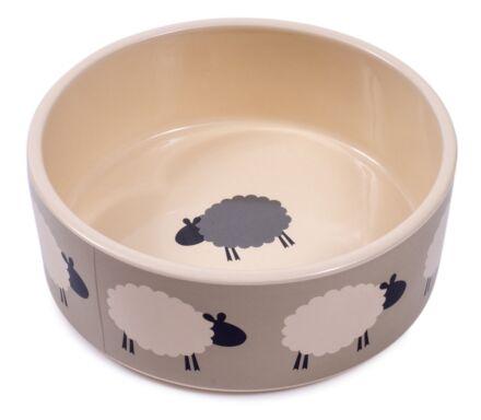 "Petface Sleepy Sheep Ceramic Bowl 6"""