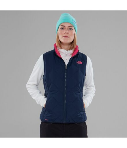 North Face Womens Zip In Reversible Down Jacket Urban Navy