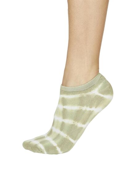 Thought Jules Bamboo Organic Cotton Tie Dye Trainer Socks Pear Green