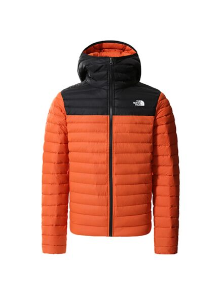 The North Face Stretch Down Hoodie Burnt Ochre/Black
