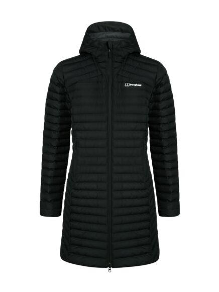 Berghaus Women's Nula Micro Long Synthetic Insulated Jacket Jet Black