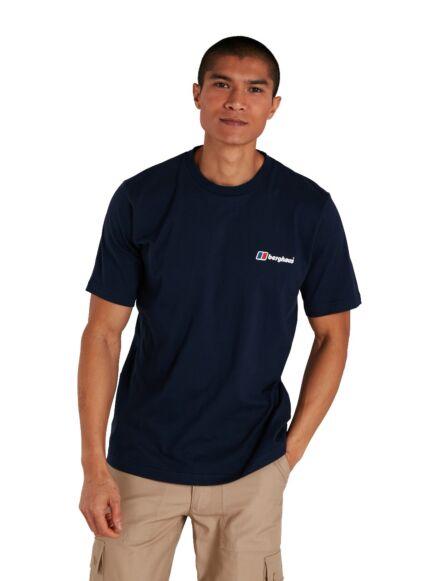 Berghaus Men's Organic Classic Logo T-Shirt Dark Blue