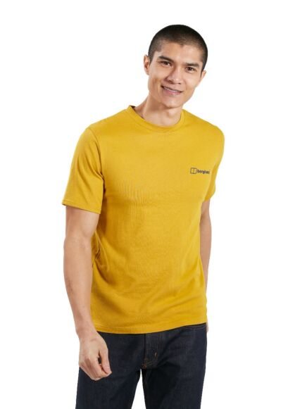 Berghaus Men's Organic Colour Logo T-Shirt Brown Arrowwood
