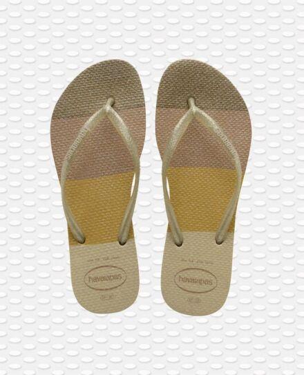 Havaianas Slim Palette Glow Flip Flops Sand Grey