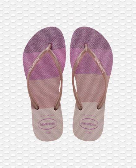 Havaianas Slim Palette Glow Flip Flops Candy Pink