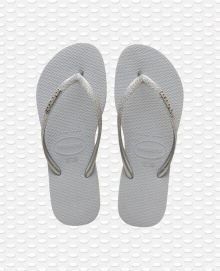 Havaianas Slim Glitter II Flip Flops Ice Grey