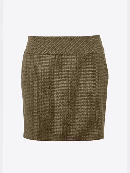 Dubarry Women's Bellflower Tweed Skirt Heath