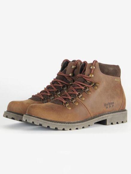 Barbour Fairfield Waterproof Hiking Boots Teak