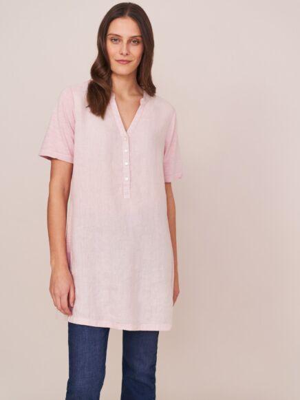 White Stuff Maraday Linen Tunic Pink