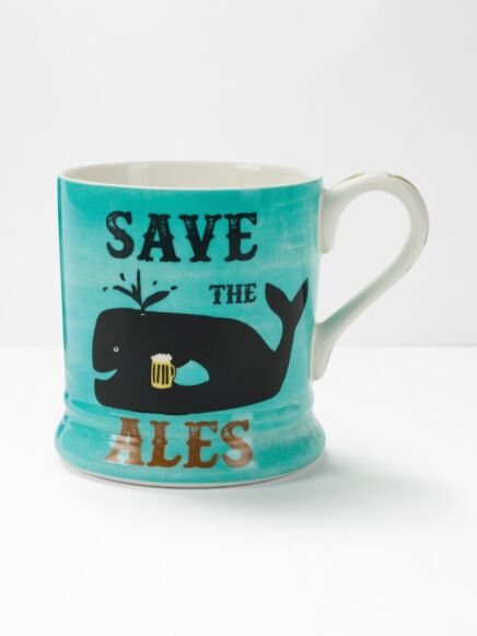 White Stuff Save The Ales Mug Blue