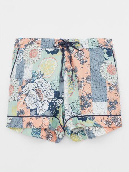 White Stuff Sloan Woven PJ Shorts Orange Multi