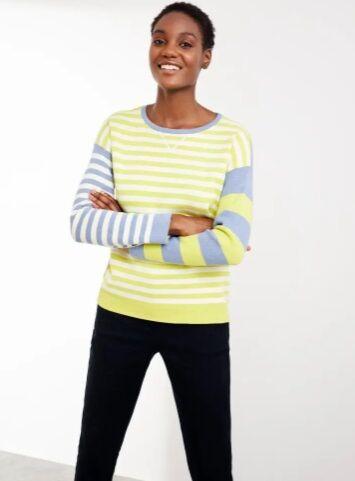 White Stuff Reversible Sweater Green Multi