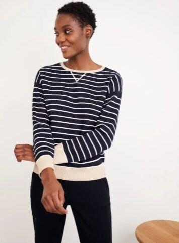 White Stuff Reversible Sweater Navy Multi