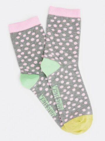White Stuff Poppy Spot Socks Grey Multi