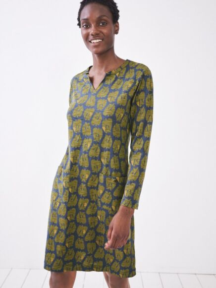White Stuff Bea Fairtrade Dress Green Multi