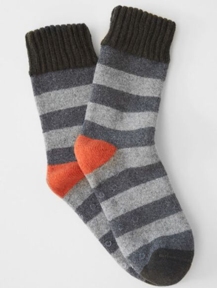 White Stuff Stripe Sock Grey Multi