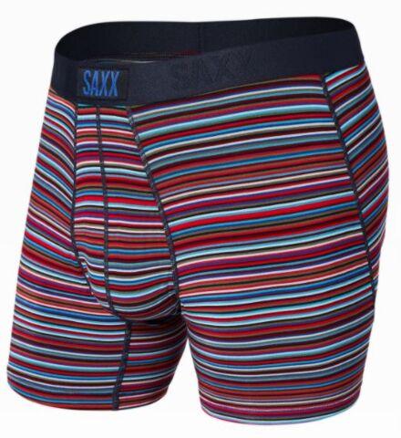 SAXX Vibe Boxer Brief Blue Vibrant Stripe