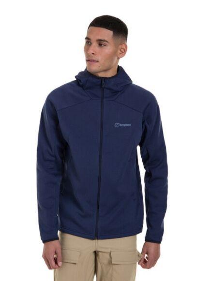 Berghaus Men's Callabee Hooded Fleece Jacket Dark Blue