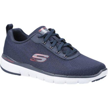 Skechers Flex Advantage 3.0 Skapp Sports Shoe Navy/Red Dfs